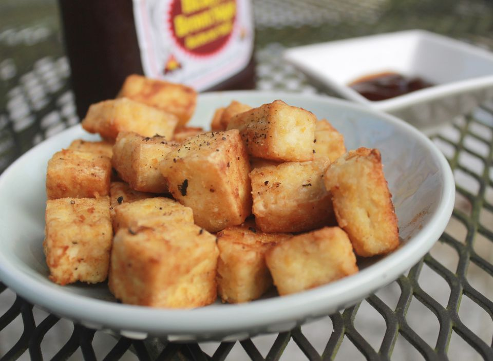 Vegetarian fried tofu