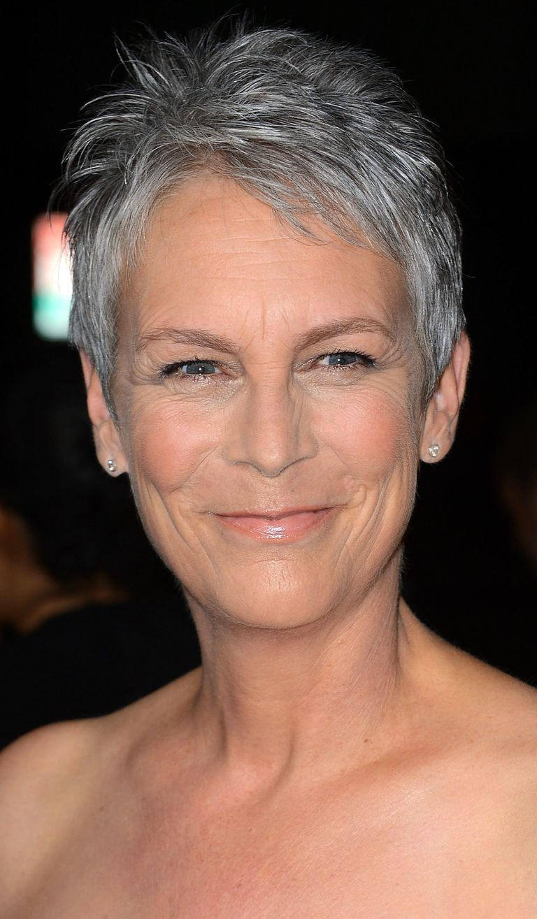 Photos of gorgeous gray hairstyles jamie lee curtis frazer harrison for getty gray hair urmus Choice Image