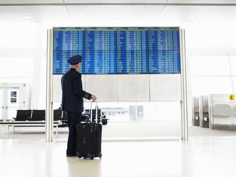 Pilot at airport