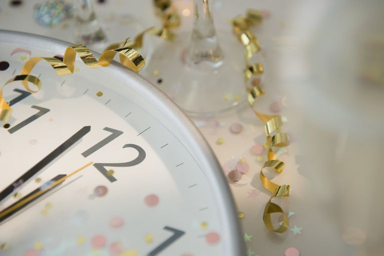 Image of a Clock Counting Down to Year's End