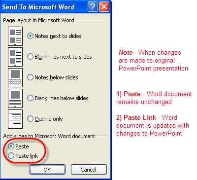 how to put a word document on a powerpoint slide