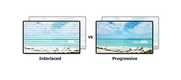 Interlaced Scan vs Progressive Scan