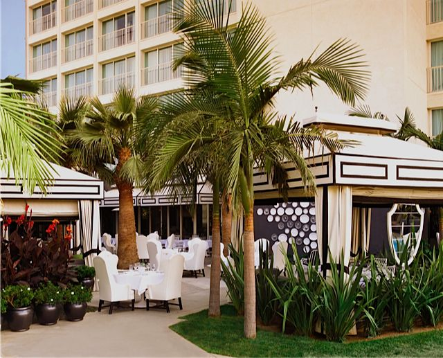 Pool cabanas at Viceroy Santa Monica hotel in L.A.