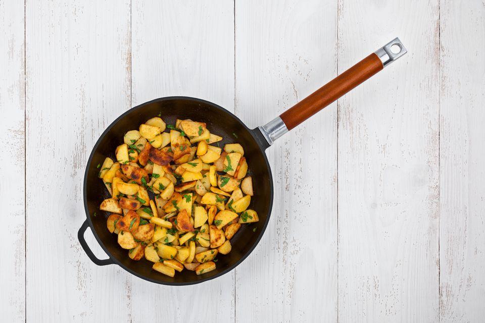 Potatoes In A Frying Pan