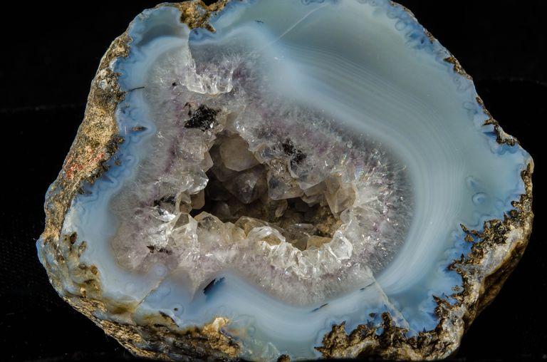 Close up of a geode