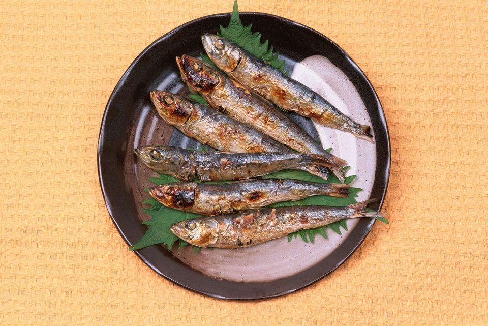baked sardines
