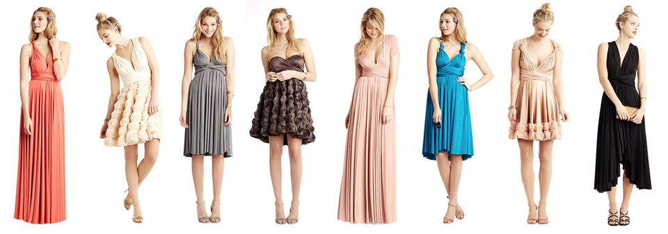 Convertible Bridesmaids Dresses from Two Birds Bridesmaids