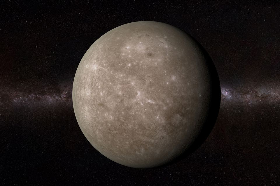 The planet Mercury.