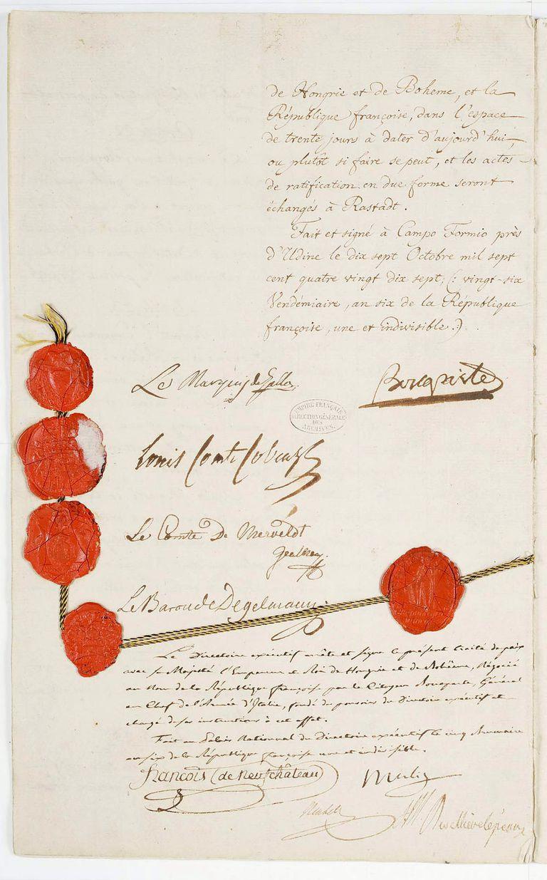 The Treaty of Campo Formio