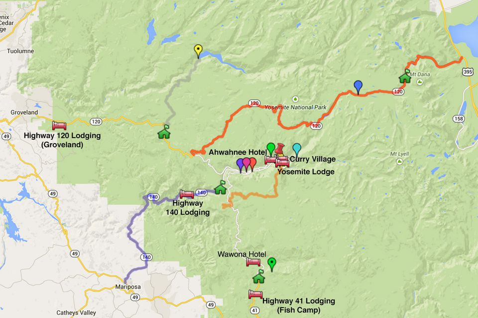 Yosemite Lodging Map What You Need to Know About the Area