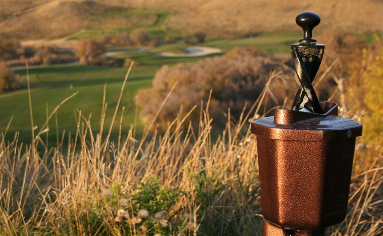 Ball washer on a golf course is an outside agency