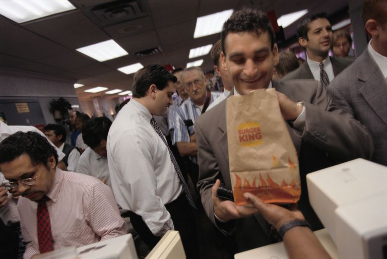 Businessman Receiving His Burger King Lunch Order