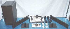 Panasonic SC-HTB350 2.1 Channel Home Theater System with Accessories and Documentation