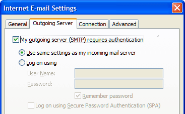 Access an aol email account with outlook make sure my outgoing server smtp requires authentication is checked heinz tschabitscher sciox Gallery