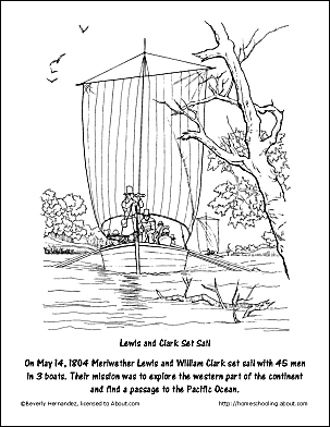 Lewis And Clark Set Sail Coloring Page