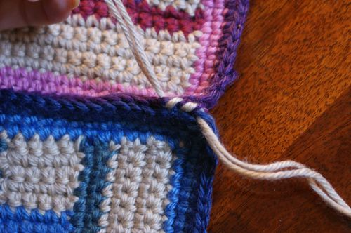 Whipstitching in Progress