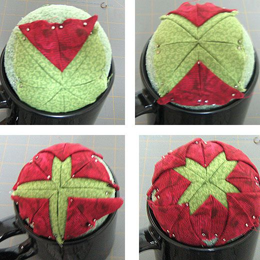 Quilted Fabric Star Christmas Ornament Pattern