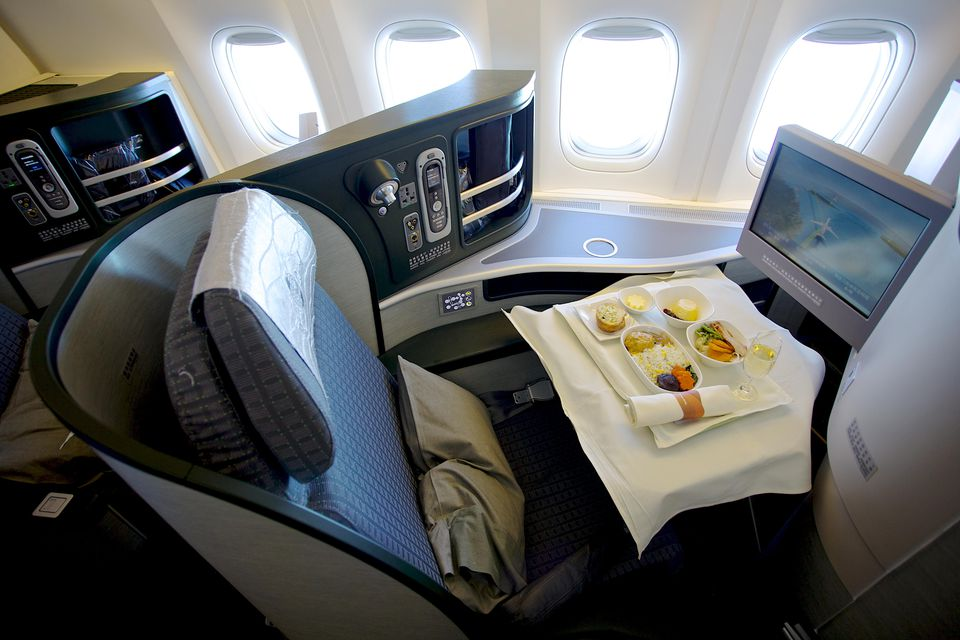 First class on airplane