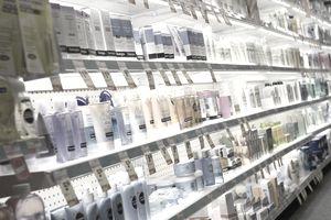 Choices for skin cream at a CVS drugstore, Boston, MA