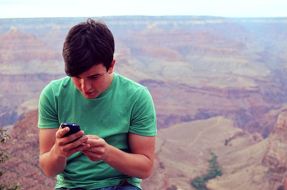 Teenager at Grand Canyon