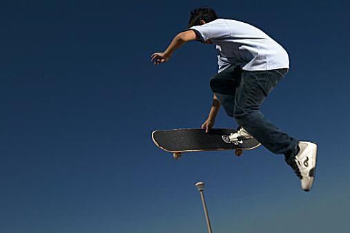 Caveman Skate Trick