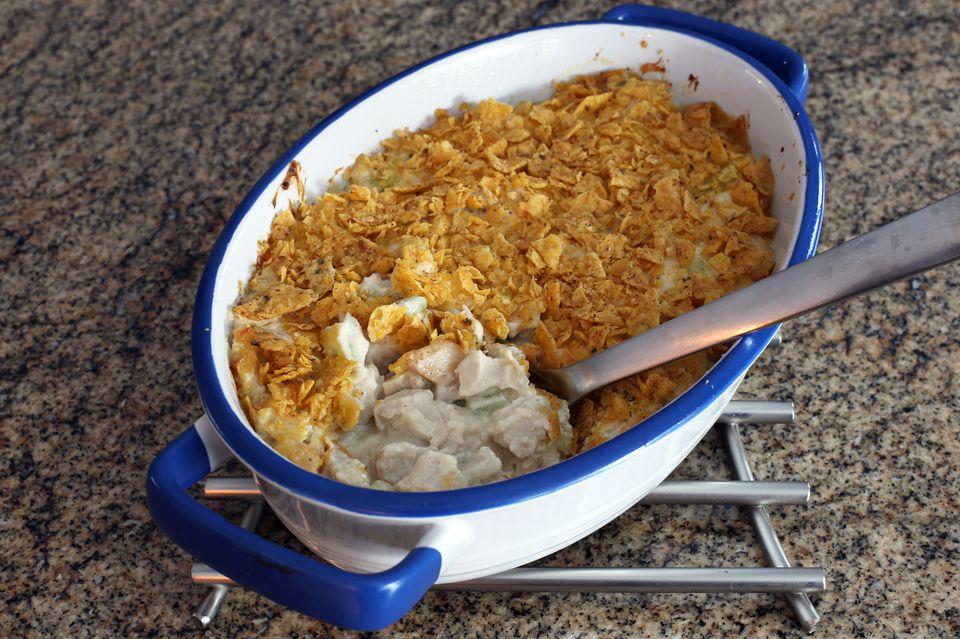 chicken casserole - hot chicken salad