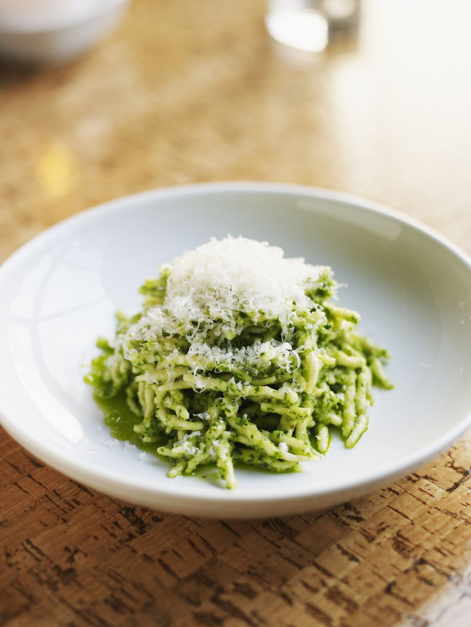 Trofie in pesto sauce