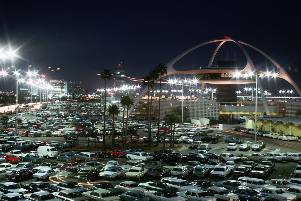 Airport Parking Lot and Suspended Restaurant, Los Angeles