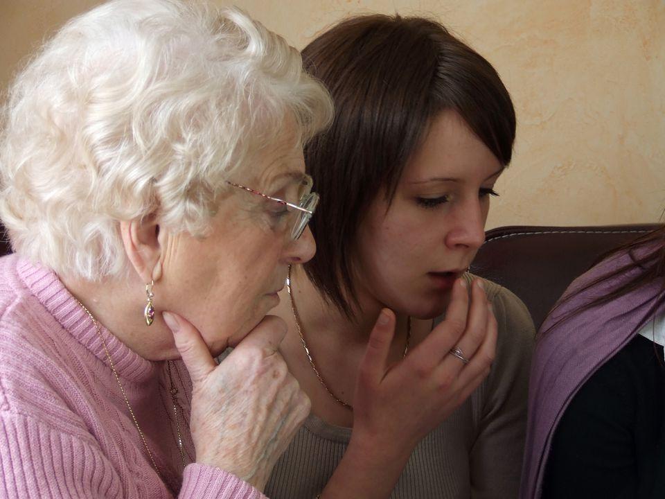 Teen Grandchild With Grandmother