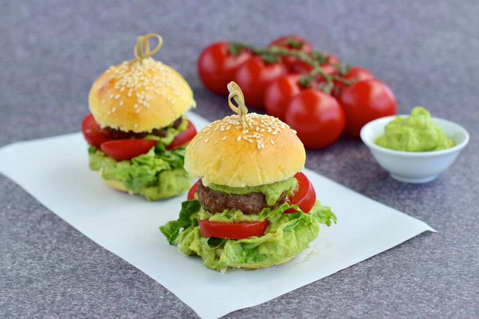 irish buger with guacamole