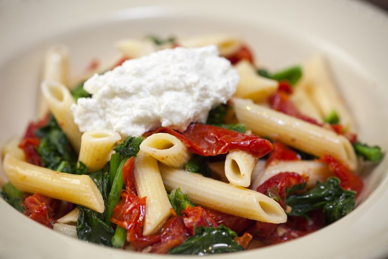 Penne with Swiss Chard and Red Peppers