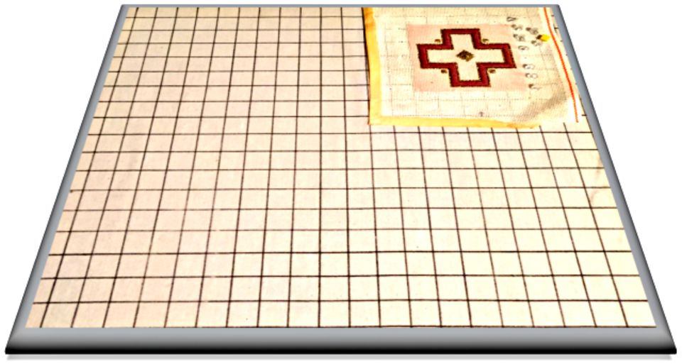 Typical Blocking Board for Needlepoint