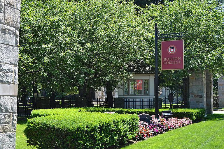 Boston College Sign