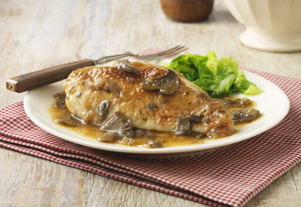 Lazy Chicken With Mushrooms, Slow Cooker