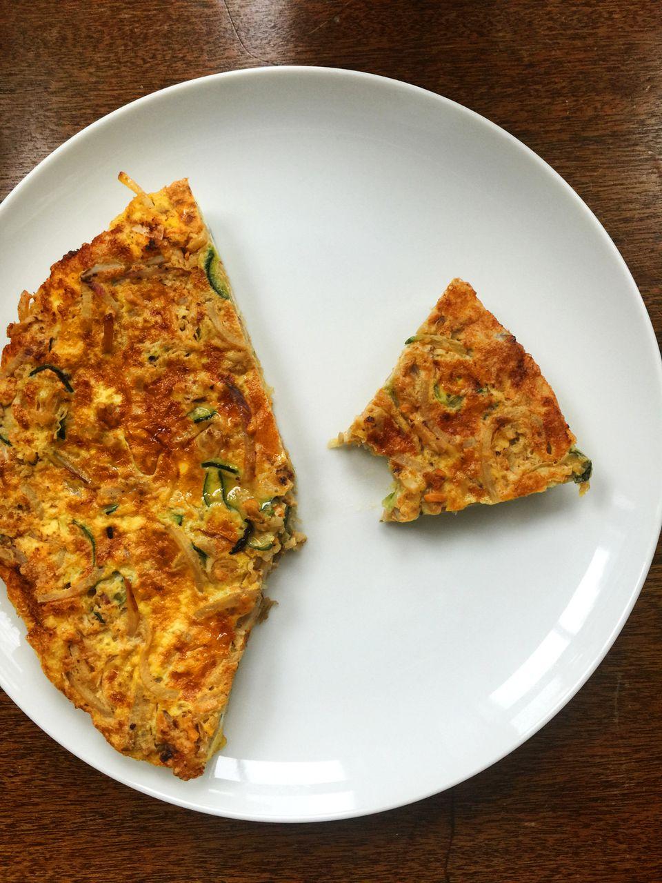 Spiralized Vegetable Frittata