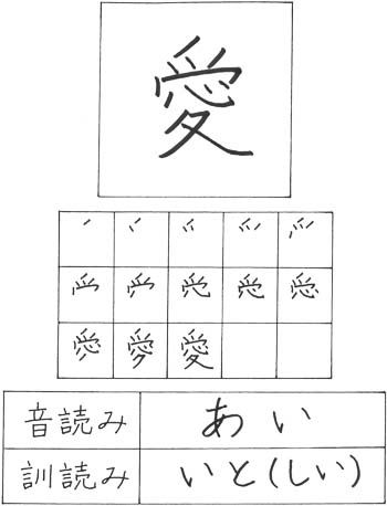 Kanji for love