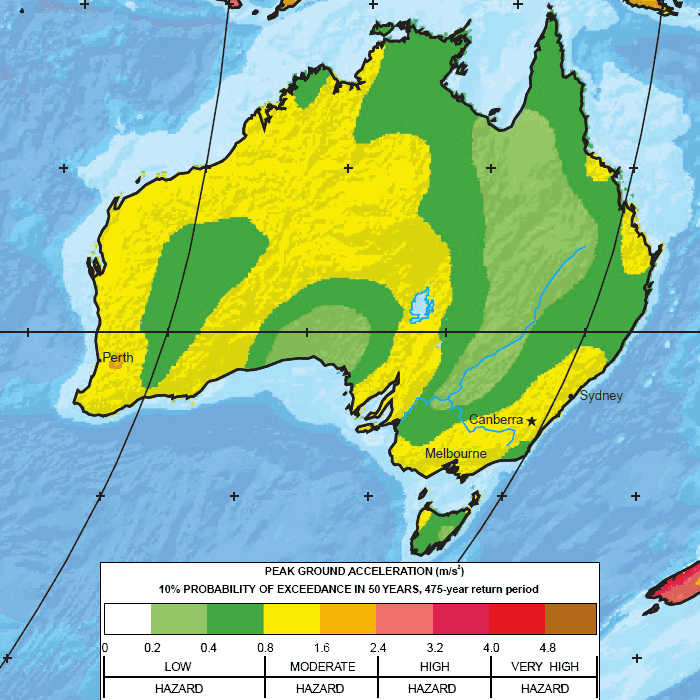 Major earthquake zones on each continent australia map global seismic hazard assessment program gumiabroncs Image collections
