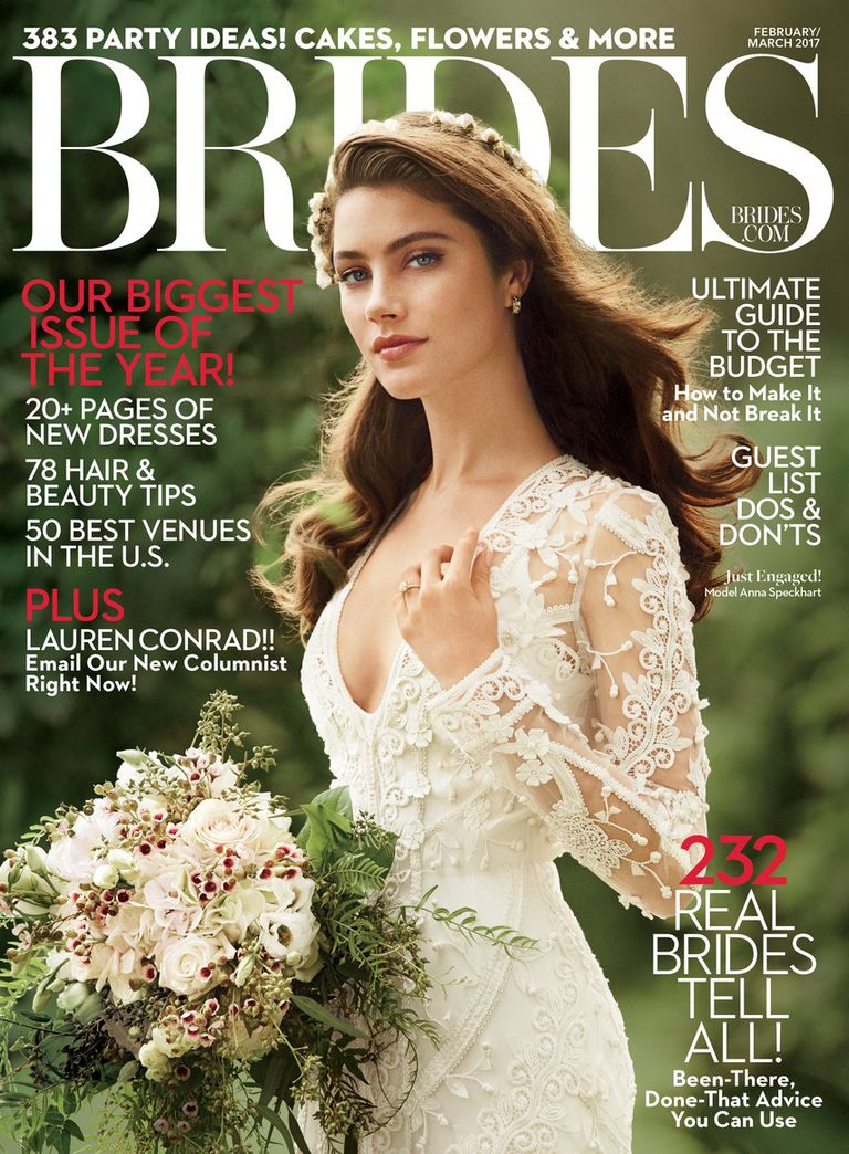 The Cover Of March 2017 Brides Magazine