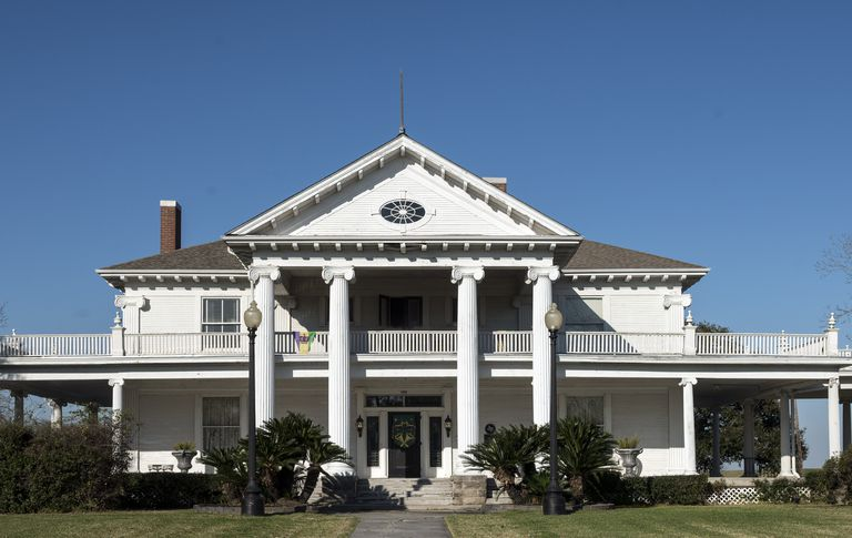Greek Revival style in Port Arthur, Texas, the Rose Hill Manor, also called the Woodworth House