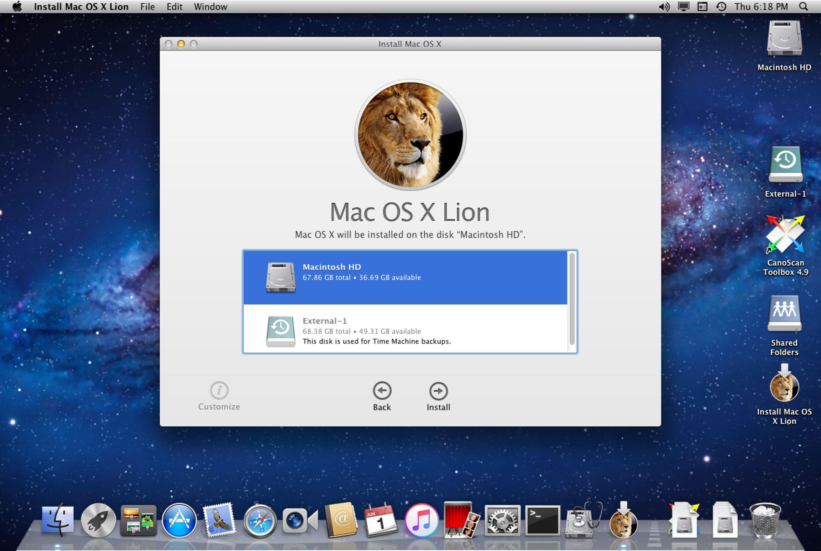mac osx operating system