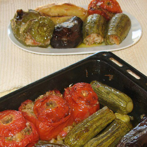 Yemista - Stuffed Vegetables with Rice and Herbs