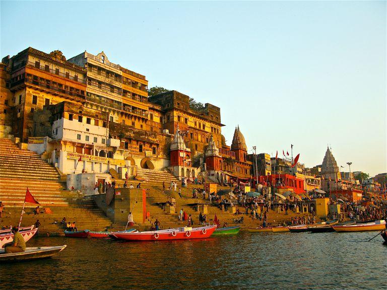 Ahilya Ghat by the Ganges, Varanasi.
