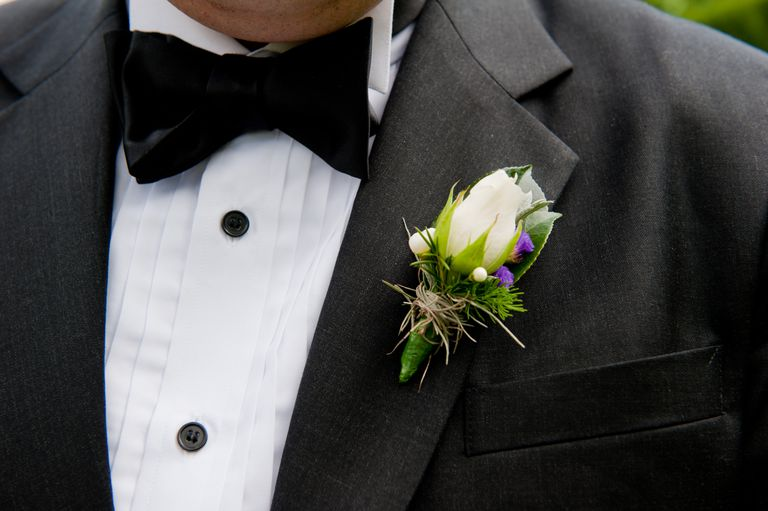Boutonniere on man's suit