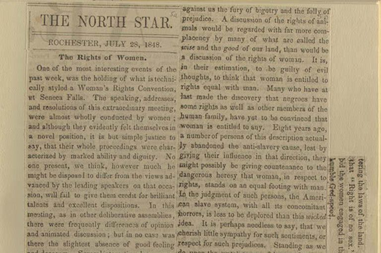 Report on Seneca Falls - North Star, July 1848