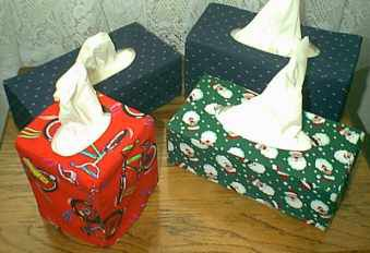 Sew your own tissue box covers as a great get well gift.