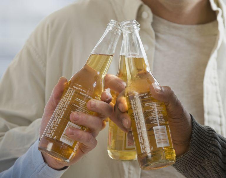 Men With Open Beer Bottles
