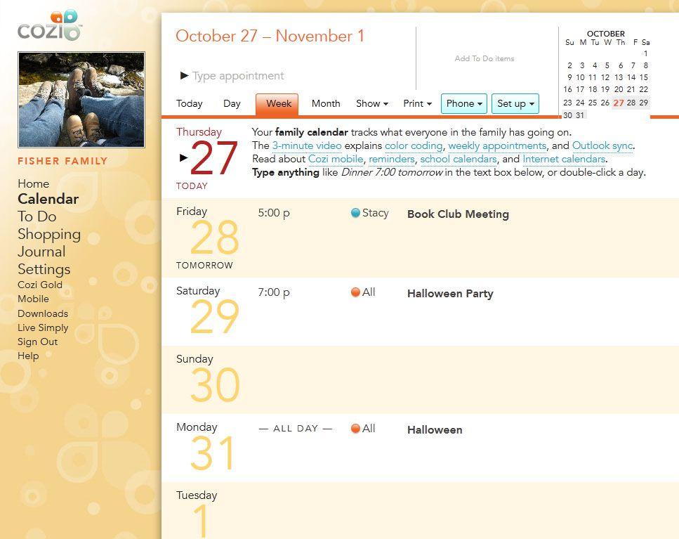 free online schedule calendar