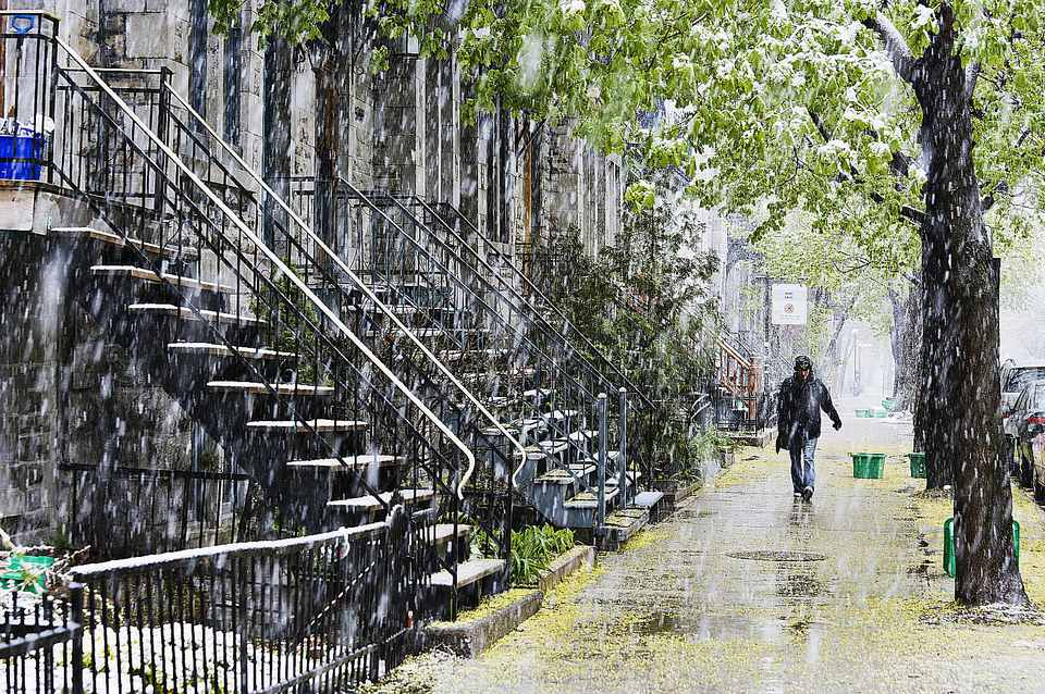 Montreal raining