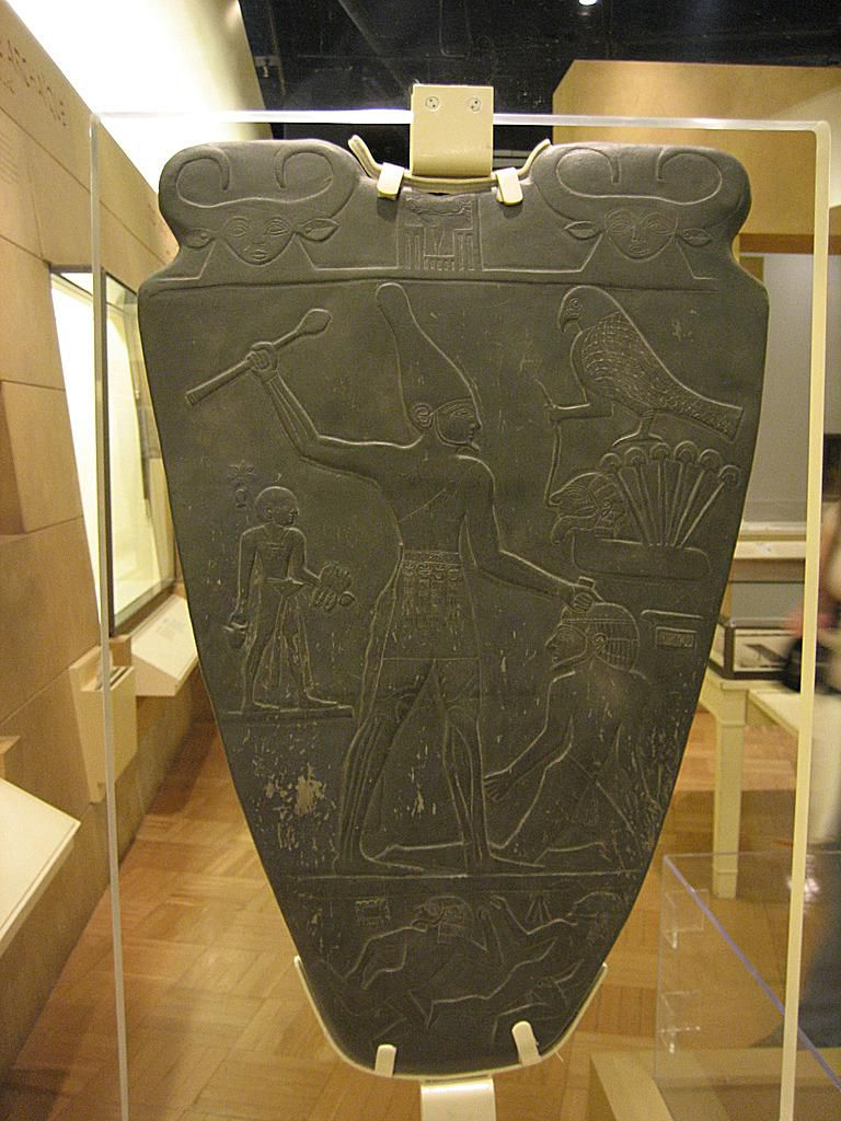 Narmer Tablet (reproduction at the Toronto Museum)