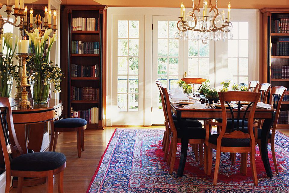 Transitional Dining Room by Sutro Architects
